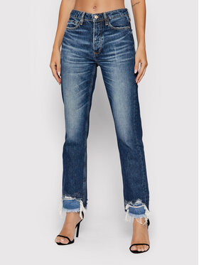 Guess Guess Jeansy Girly W1BA16 D3Y0N Granatowy Straight High