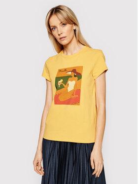Marella Marella T-Shirt Italia 39710312200 Żółty Regular Fit