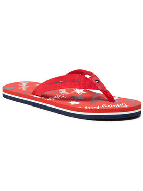 Tommy Hilfiger Tommy Hilfiger Σαγιονάρες Stars Print Flip Flop T3A0-30884-0058 S Κόκκινο