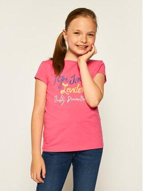 Pepe Jeans Pepe Jeans Tričko Farrah PG502441 Ružová Regular Fit