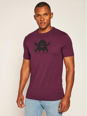 Armani Exchange Armani Exchange Marškinėliai 6HZTFD ZJH4Z 1306 Violetinė Regular Fit