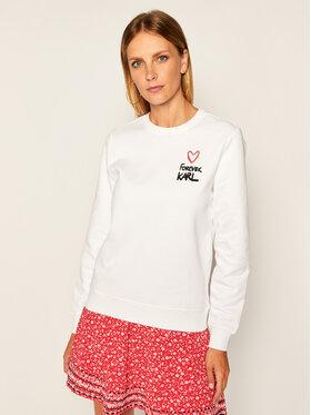 KARL LAGERFELD KARL LAGERFELD Sweatshirt Forever 205W1810 Blanc Regular Fit