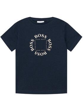 Boss Boss Marškinėliai J25G93 D Tamsiai mėlyna Regular Fit