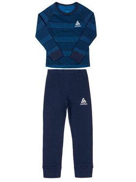 Odlo Odlo Ensemble sous-vêtements termiques Set Active Warm 150409 Bleu marine Slim Fit