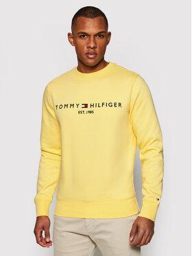 Tommy Hilfiger Tommy Hilfiger Felpa Logo MW0MW11596 Giallo Regular Fit