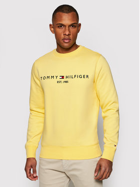 Tommy Hilfiger Tommy Hilfiger Pulóver Logo MW0MW11596 Sárga Regular Fit