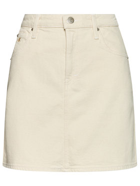 Calvin Klein Jeans Calvin Klein Jeans Spódnica jeansowa High Rise J20J215434 Beżowy Slim Fit