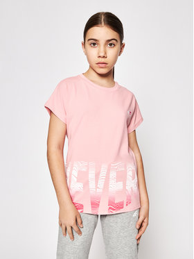 4F 4F T-Shirt HJL21-JTSD006A Różowy Relaxed Fit