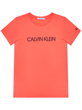 Calvin Klein Jeans Calvin Klein Jeans Tričko Institutional IG0IG00380 Oranžová Regular Fit
