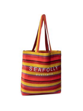 Seafolly Seafolly Borsa Baja Stripe Neoprene Tote 71561-BG Rosso