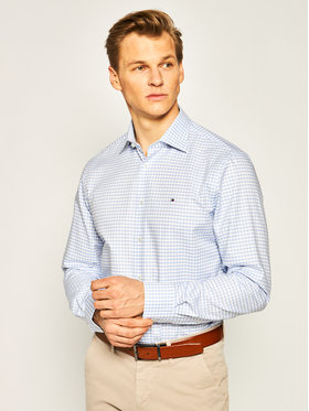 Tommy Hilfiger Tailored Tommy Hilfiger Tailored Риза Twill Check Classic TT0TT06469 Син Regular Fit