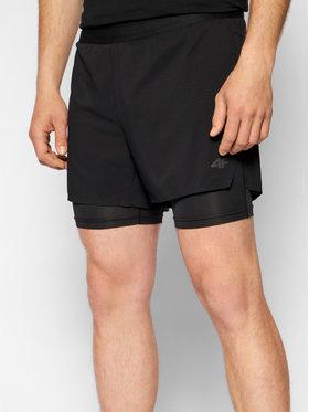 4F 4F Short de sport H4L21-SKMF010 Noir Regular Fit