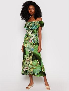 Desigual Desigual Ljetna haljina Tucson 21SWVW56 Zelena Regular Fit