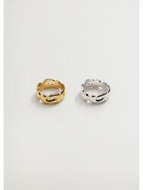 Mango Mango Zestaw 2 pierścionków Viani 87085134 Kolorowy