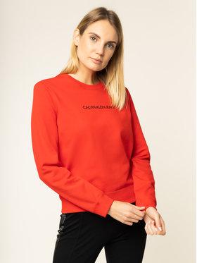 Calvin Klein Jeans Calvin Klein Jeans Mikina Institutional J20J212873 Červená Regular Fit