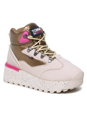 Tommy Jeans Tommy Jeans Sneakersy Hybrid Flatform Boot EN0EN01589 Beżowy