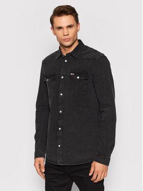 Tommy Jeans Tommy Jeans Τζιν πουκάμισο Western DM0DM11860 Μαύρο Regular Fit