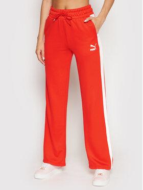 Puma Puma Teplákové kalhoty Iconic T7 530238 Červená Relaxed Fit