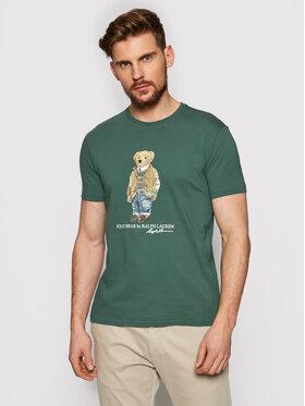 Polo Ralph Lauren Polo Ralph Lauren T-shirt Ssl 710835761003 Vert Slim Fit