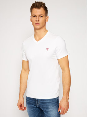 Guess Guess T-Shirt M1RI37 I3Z11 Biały Slim Fit