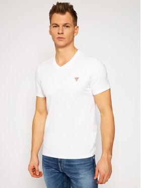 Guess Guess T-Shirt M1RI37 I3Z11 Bílá Slim Fit
