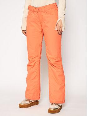 Roxy Roxy Lyžiarske nohavice Backyard ERJTP03127 Oranžová Regular Fit