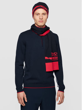 Boss Boss Комплект шал и шапка Gift-Set Aura 1 50441441 Тъмносин