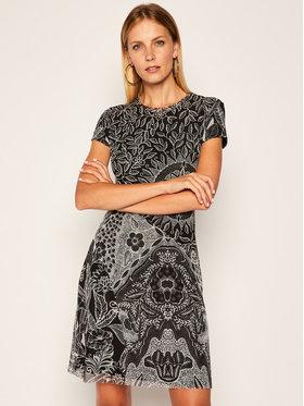 Desigual Desigual Kleid für den Alltag Paris 20WWVK62 Schwarz Regular Fit