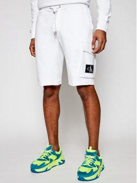Calvin Klein Jeans Calvin Klein Jeans Športové kraťasy J30J314676 Biela Regular Fit