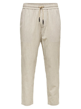 Only & Sons ONLY & SONS Текстилни панталони Slinus 22019199 Бежов Regular Fit