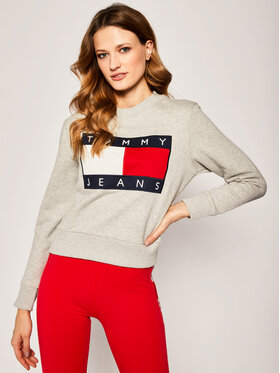 Tommy Jeans Tommy Jeans Mikina Essential DW0DW07414 Šedá Regular Fit