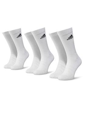adidas adidas Комплект 3 чифта дълги чорапи мъжки Cush Crw 3PP DZ9356 Бял