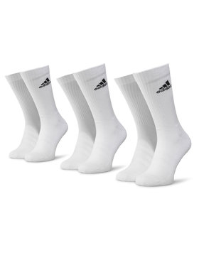 adidas adidas Σετ 3 ζευγάρια ψηλές κάλτσες unisex Cush Crw 3PP DZ9356 Λευκό