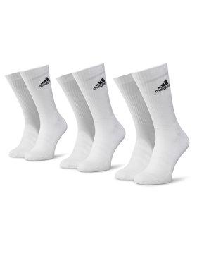 adidas adidas Súprava 3 párov vysokých ponožiek unisex Cush Crw 3PP DZ9356 Biela