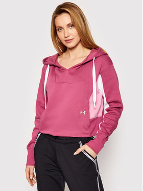 Under Armour Under Armour Bluza UA Rival 1362421 Różowy Loose Fit