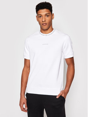 Calvin Klein Jeans Calvin Klein Jeans Džemperis J30J318059 Balta Regular Fit