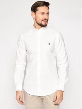 Polo Ralph Lauren Polo Ralph Lauren Риза Classics 710736557 Бял Slim Fit