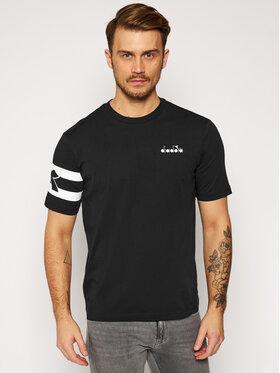 Diadora Diadora T-shirt Ss Hoops 502.176437 Nero Comfort Fit