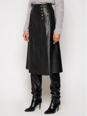 Trussardi Jeans Trussardi Jeans Fustă din piele 56G00125 Negru Regular Fit