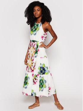 Desigual Desigual Sukienka letnia Sena 21SWVWB0 Biały Regular Fit