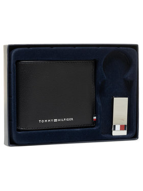 Tommy Hilfiger Tommy Hilfiger Set cadou Business Mini Cc Wallet And Clip AM0AM06723 Negru