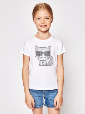 KARL LAGERFELD KARL LAGERFELD T-shirt Z15300 S Bianco Regular Fit