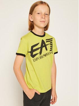 EA7 Emporio Armani EA7 Emporio Armani T-shirt 3HBT56 BJT3Z 1874 Zelena Regular Fit