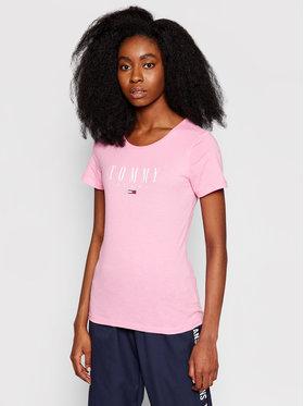 Tommy Jeans Tommy Jeans T-Shirt Essential DW0DW09926 Růžová Skinny Fit