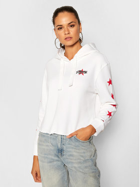 Tommy Jeans Tommy Jeans Суитшърт Tjw Modern Logo Hoodie DW0DW08557 Бял Regular Fit