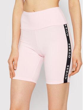 Guess Guess Szorty sportowe Aline O1GA07 KABR0 Różowy Slim Fit
