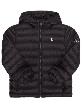 Calvin Klein Jeans Calvin Klein Jeans Пухено яке Light Down Jacket IB0IB00554 Черен Regular Fit
