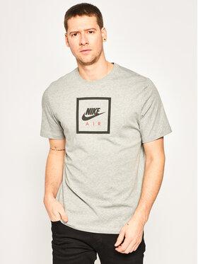 Nike Nike Тишърт Air BV7639 Сив Standard Fit