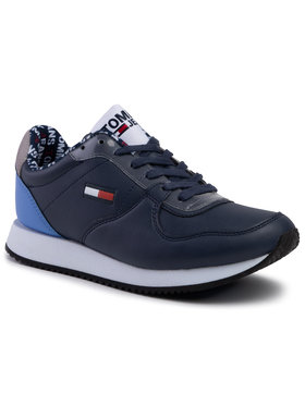 Tommy Jeans Tommy Jeans Laisvalaikio batai Wmns Casual Tommy Jeans Sneaker EN0EN00719 Tamsiai mėlyna