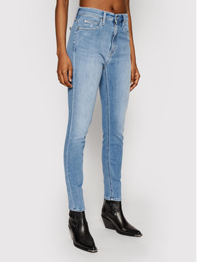 Calvin Klein Jeans Calvin Klein Jeans Džinsai High Rise J20J215390 Mėlyna Skinny Fit